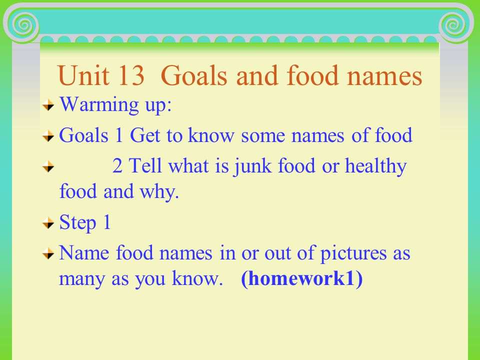 U13 Healthy eating bread