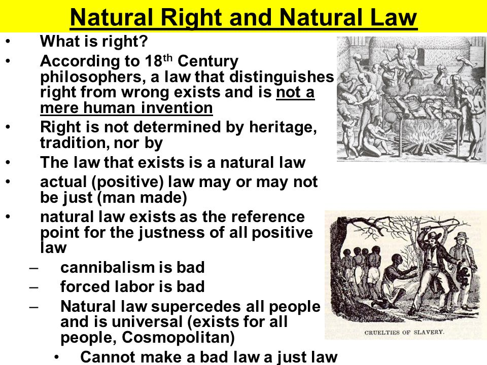 How do we discover natural law.