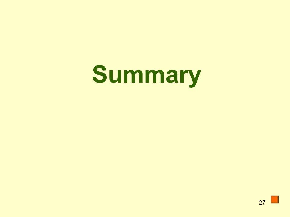 27 Summary