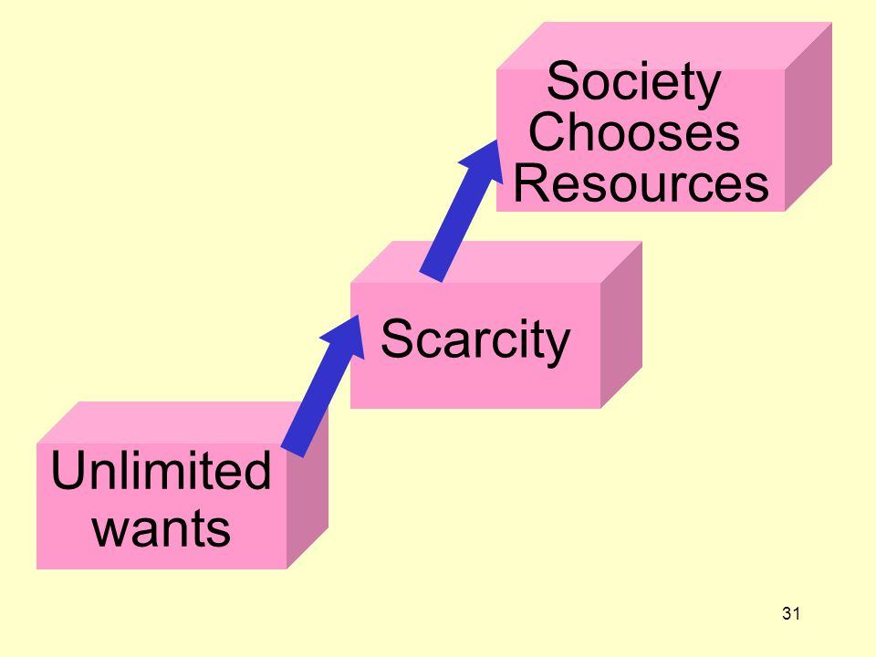 31 Unlimited wants Scarcity Society Chooses Resources