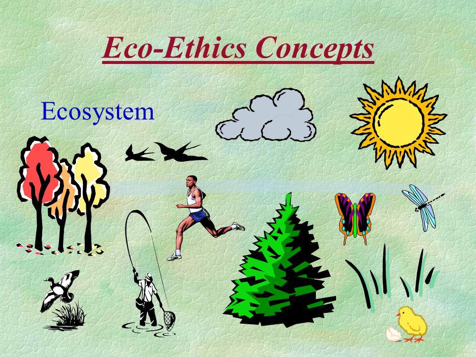 Eco-Ethics Concepts Ecosystem