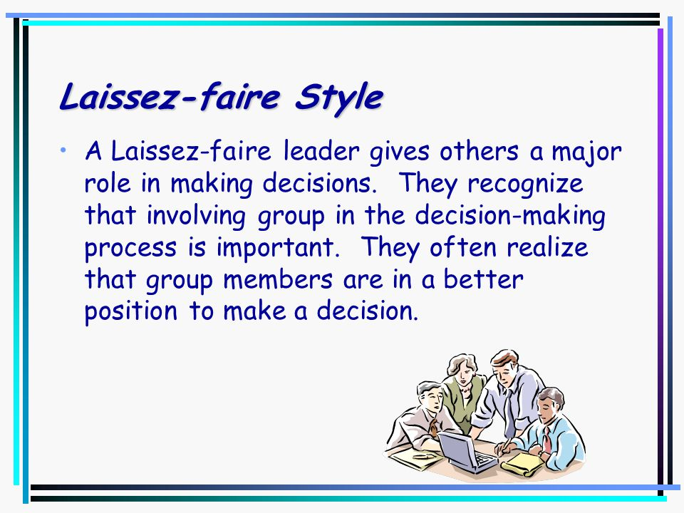 Autocratic Style An autocratic leader is directive and makes decisions for an individual or group. Being autocratic does not mean the leader is coerci