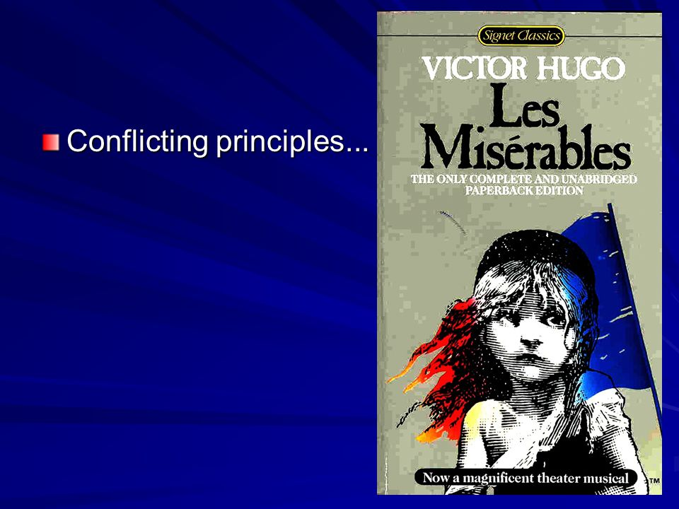 Conflicting principles...