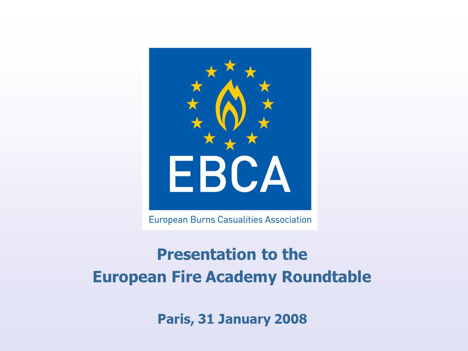 Presentation to the European Fire Academy Roundtable Paris, 31 January 2008