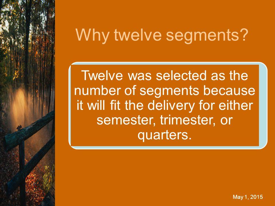 Why twelve segments.