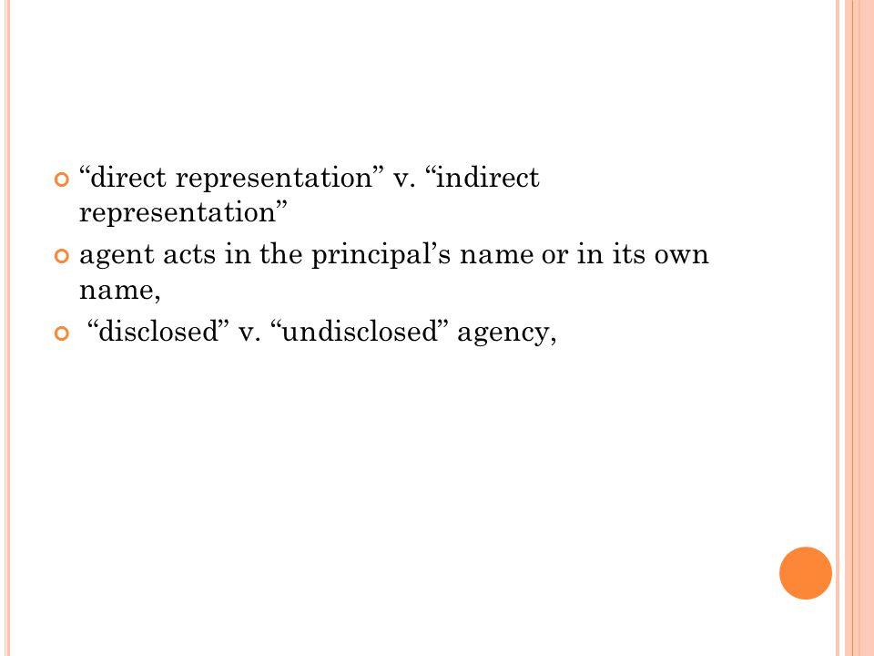 direct representation v.