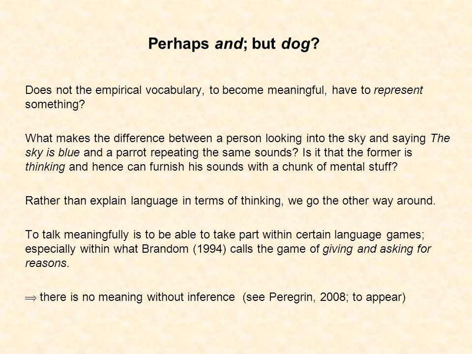 Perhaps and; but dog.