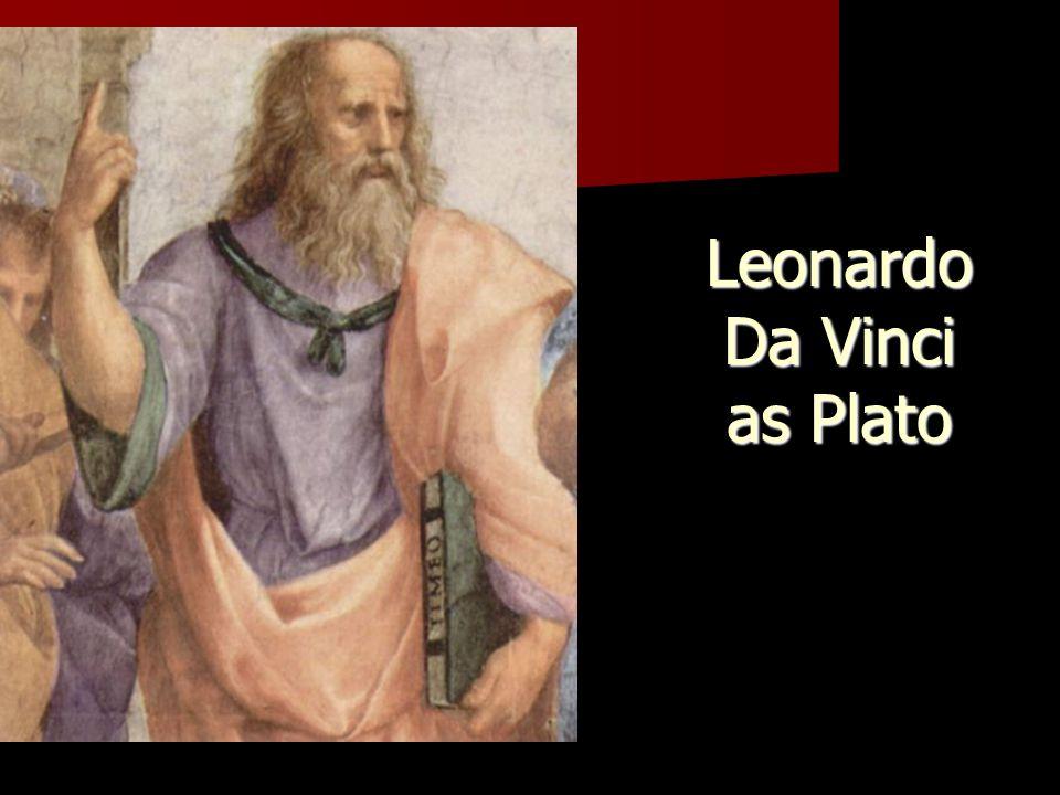 Leonardo Da Vinci as Plato