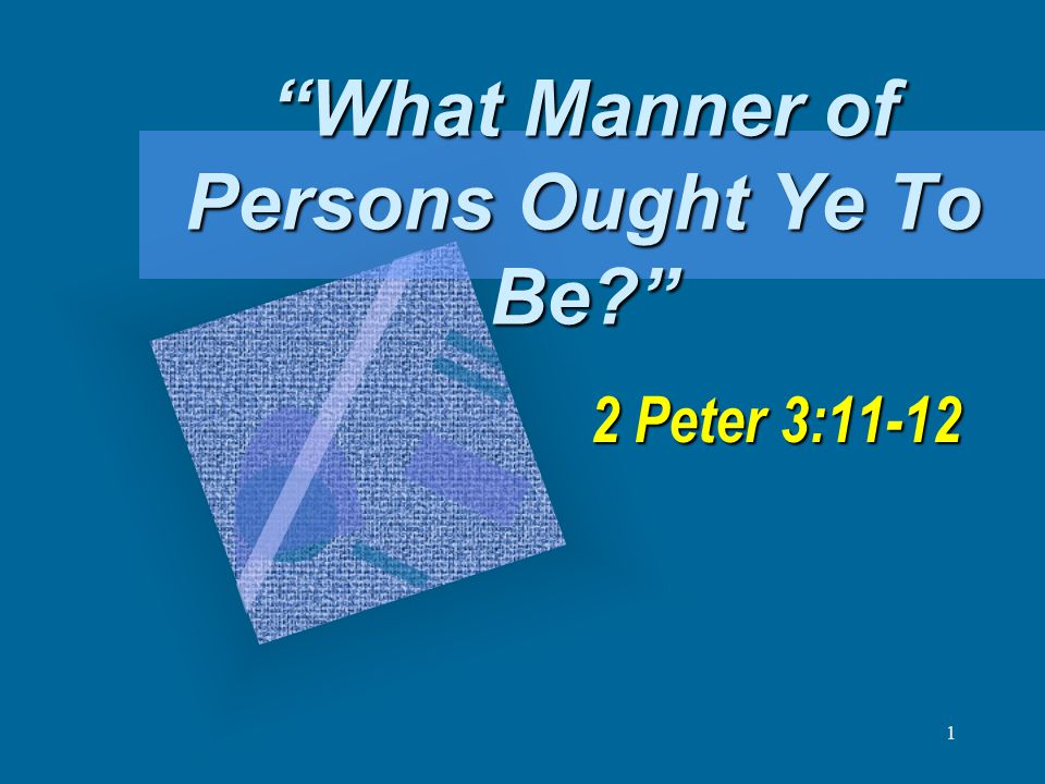 12 Peter tells them… To be WILLING TO SUFFER for right To be WILLING TO SUFFER for right – 1 Peter 4:1-4, 15-16 To be a HUMBLE people To be a HUMBLE people – 1 Peter 5:5-7 To be a DILIGENT people To be a DILIGENT people – 2 Peter 1:3-11