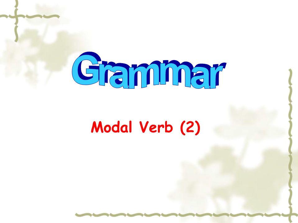 Modal Verb (2)