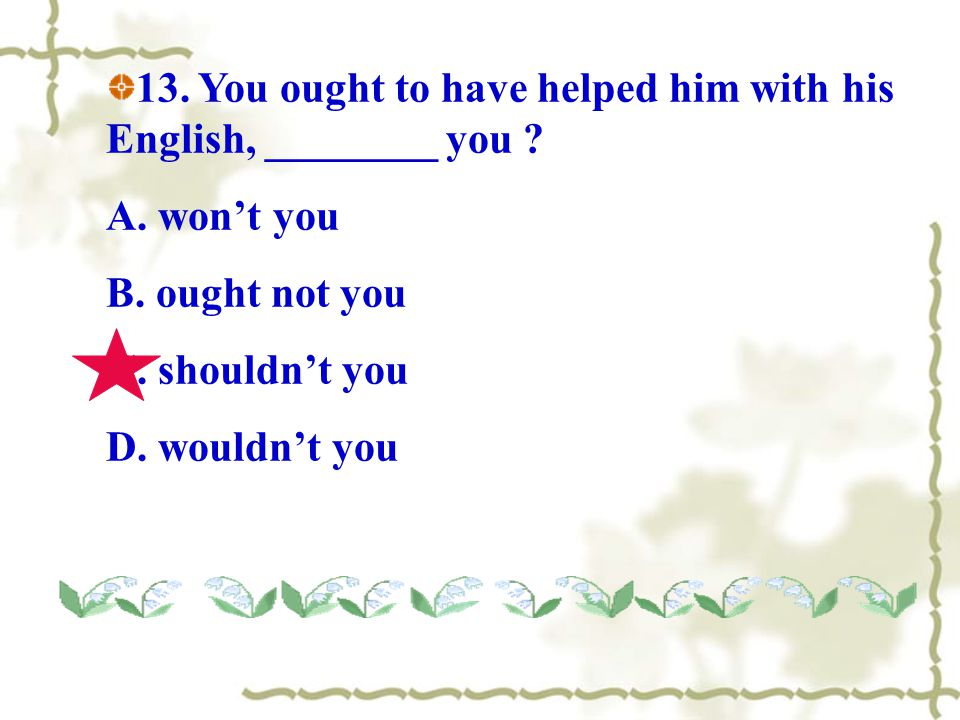  Could I borrow your dictionary?( 委婉 ) ---- Yes , you can/may.