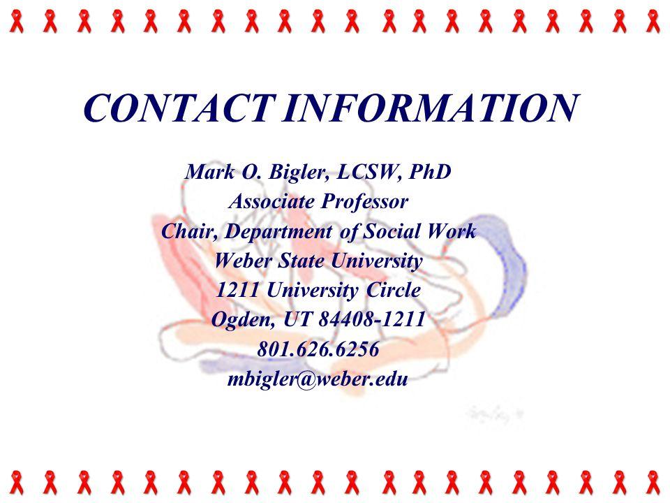CONTACT INFORMATION Mark O.
