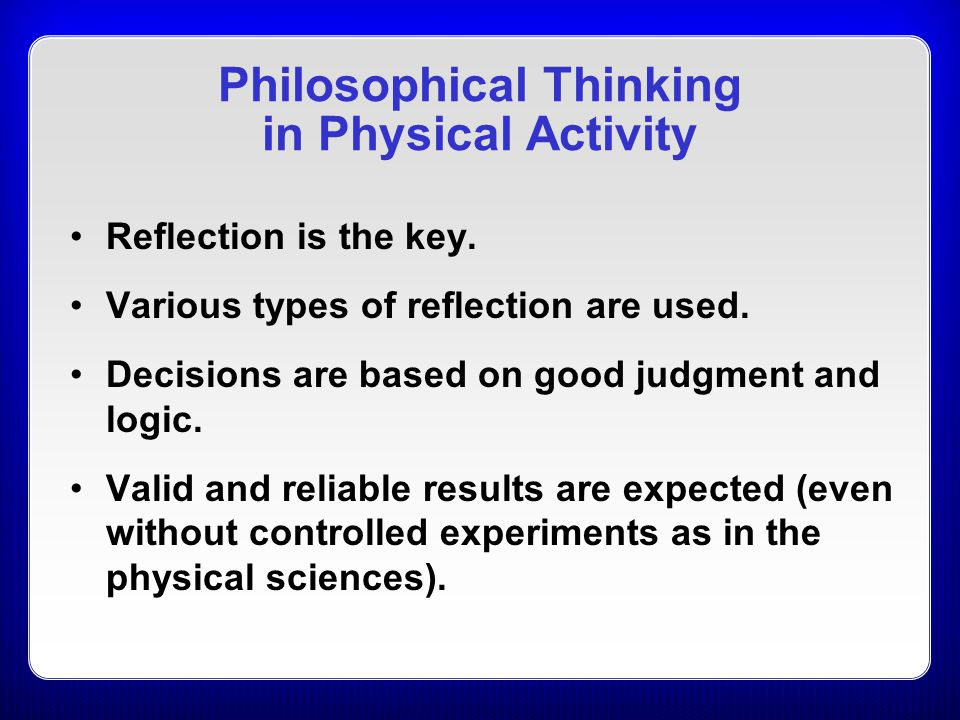 Power of Reflection Allows for a broader range of phenomena to be studied (as compared to areas limited to testing, measuring, or examining physical objects).