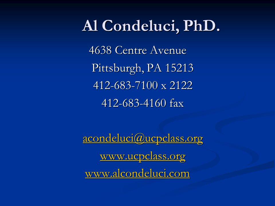 Al Condeluci, PhD.