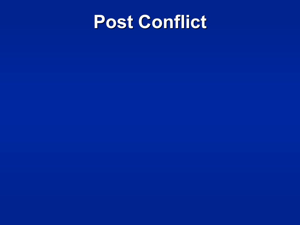 Post Conflict