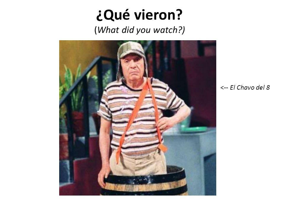 ¿Qué vieron? (What did you watch?) <-- El Chavo del 8