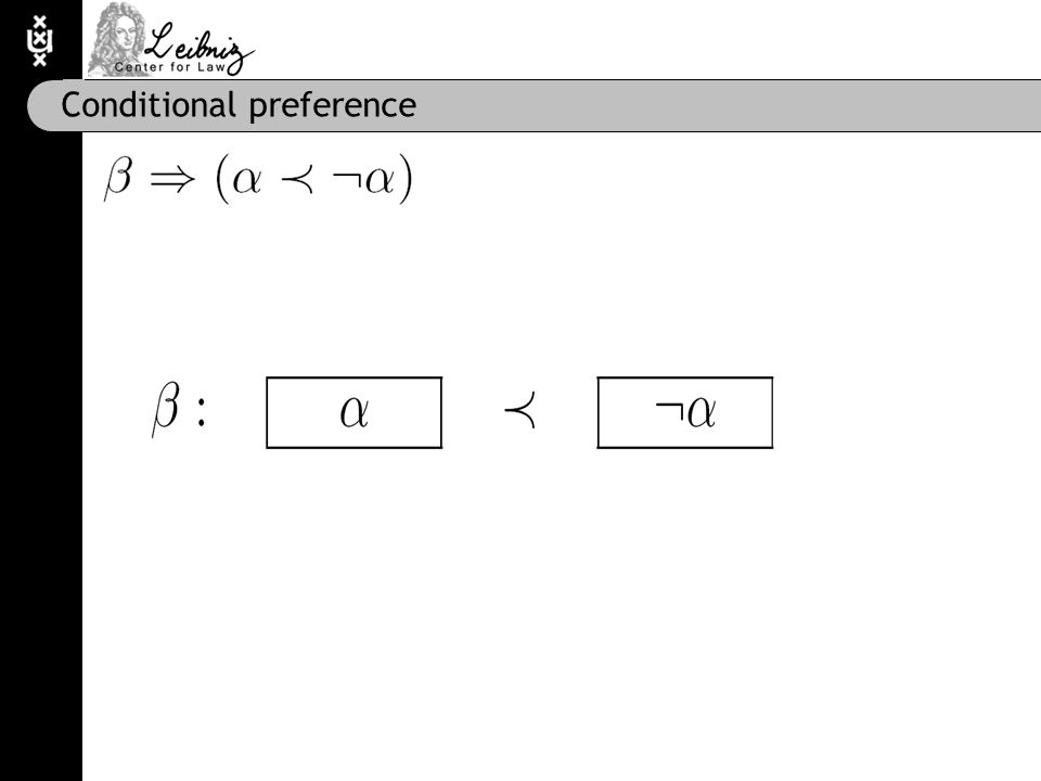 Conditional preference
