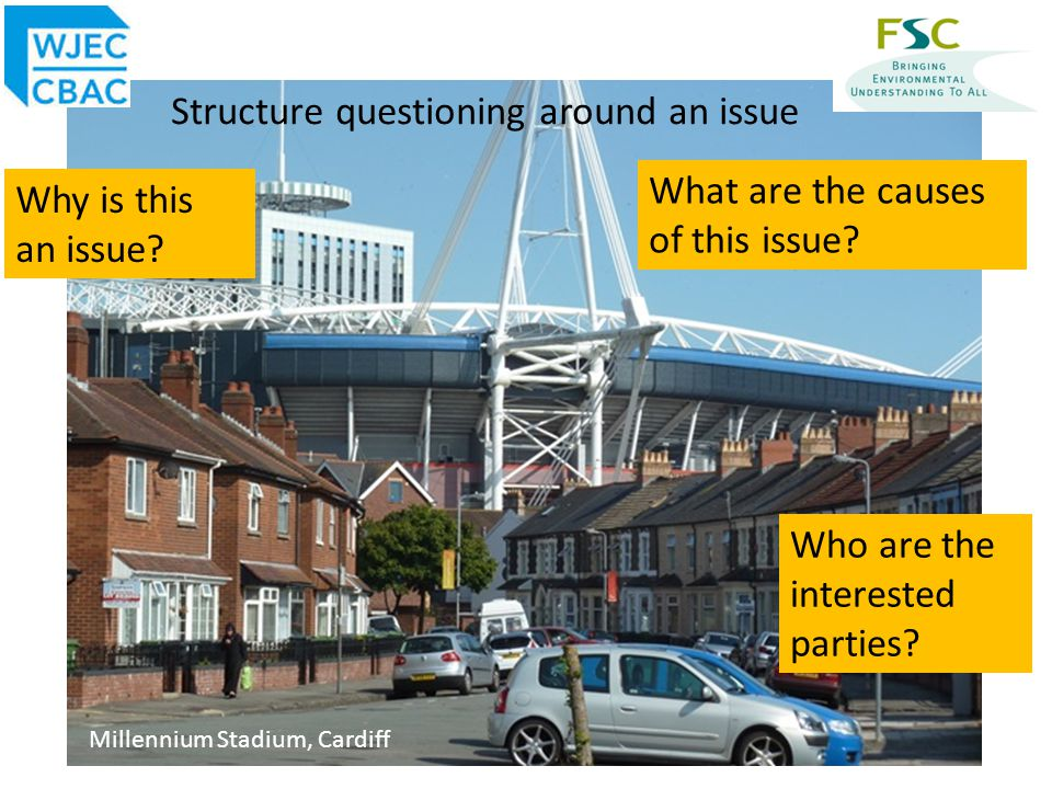 Strategies to help students to structure questions An enquiry approach requires learners to be able to identify issues and pose geographical questions.
