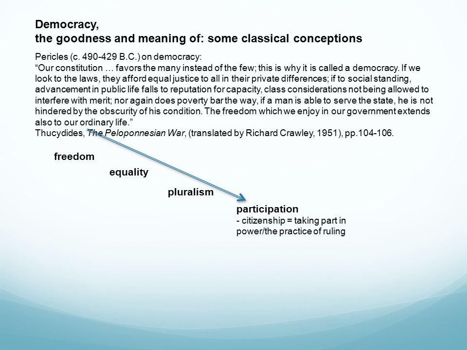 Democracy demos = people people as ethnos people as demos demos.