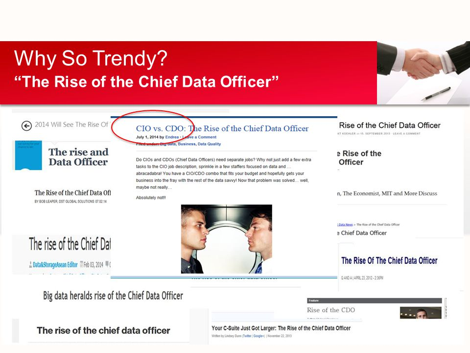 Why So Trendy? The Rise of the Chief Data Officer