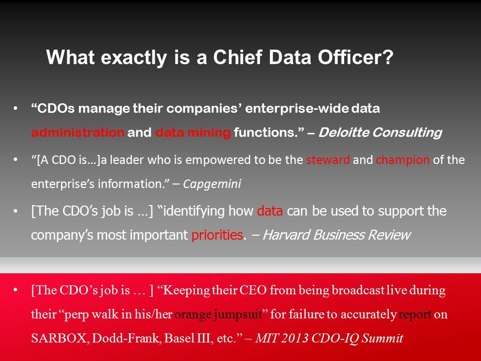 What exactly is a Chief Data Officer.