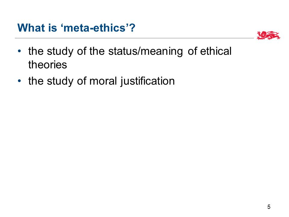 What is 'meta-ethics'.