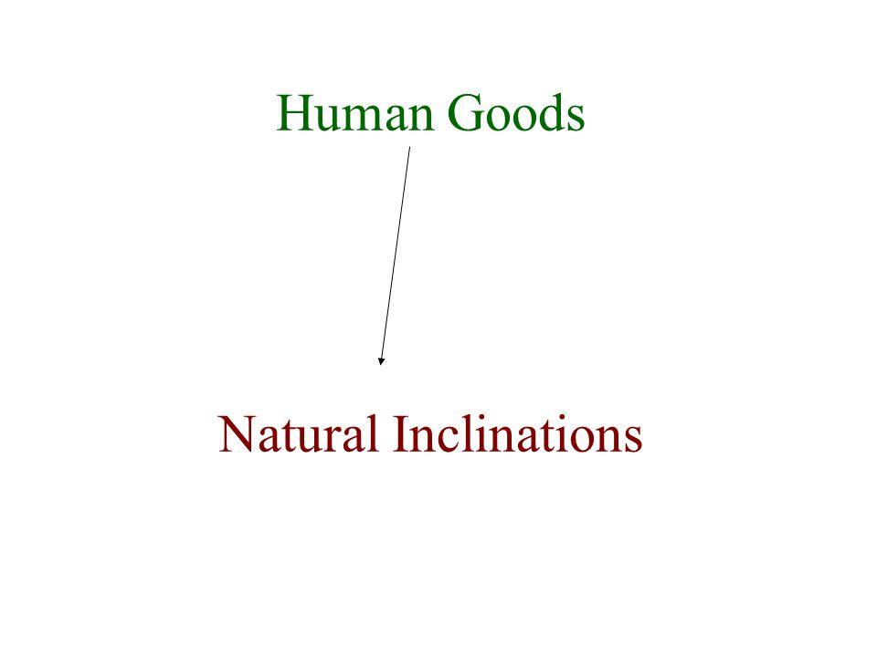 Human Goods Natural Inclinations