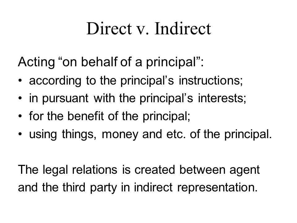 Direct v.