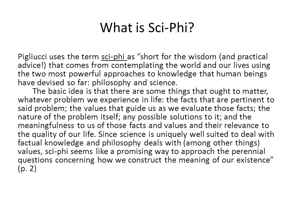 What is Sci-Phi.