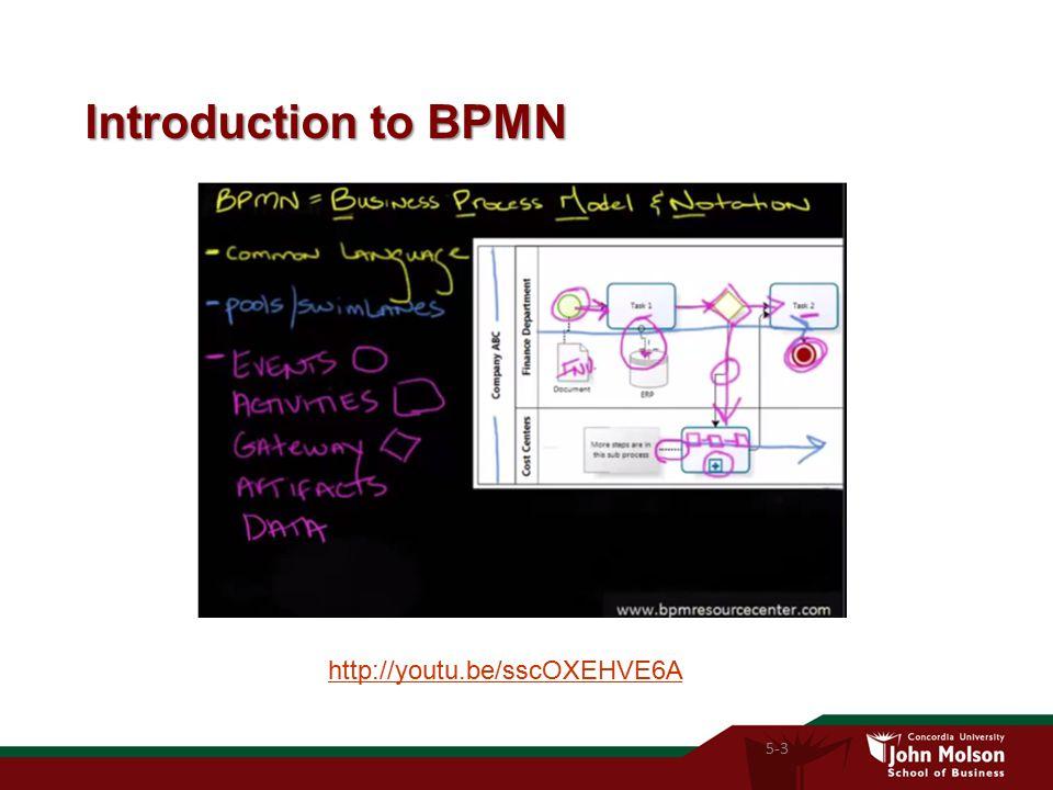 Introduction to BPMN 5-3 http://youtu.be/sscOXEHVE6A