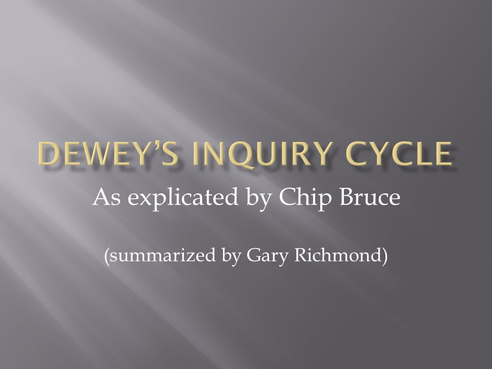 As explicated by Chip Bruce (summarized by Gary Richmond)