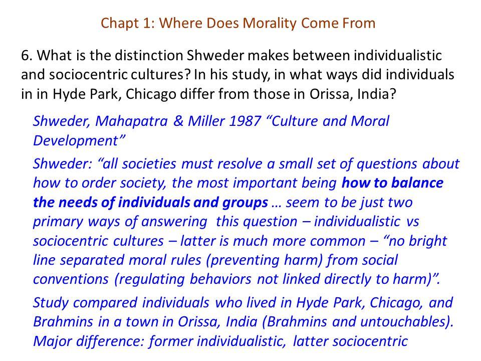 7.What is Turiel's major criticism of the Shweder et al study.