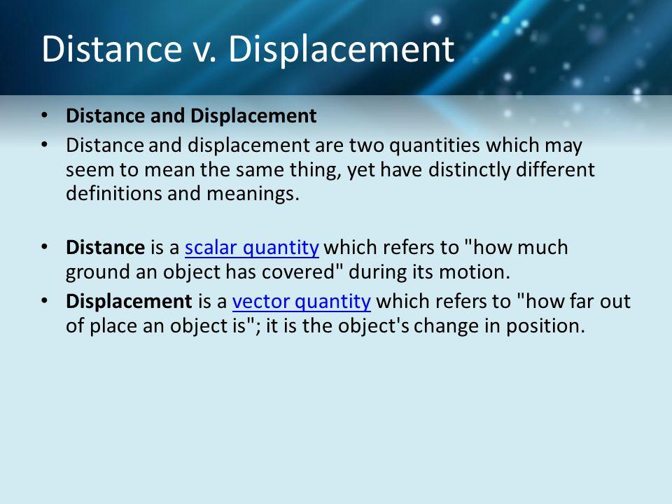 Distance v.