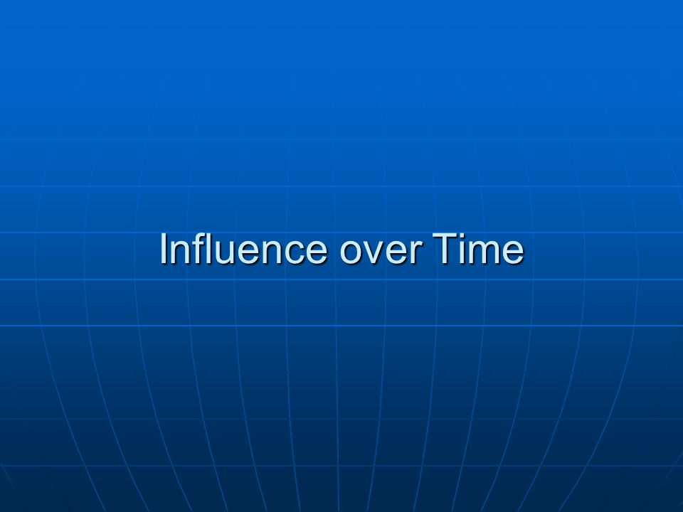 Influence over Time