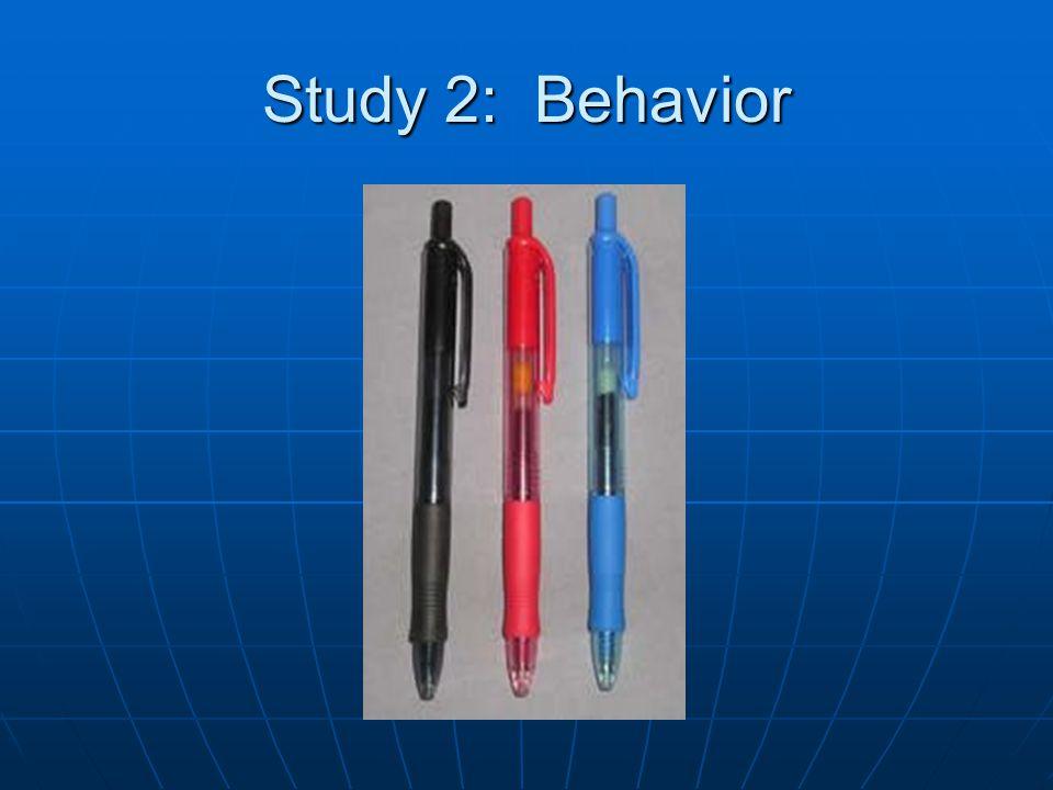 Study 2: Behavior