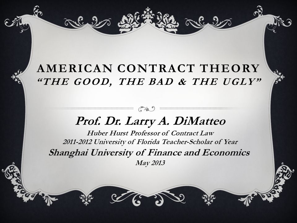ENFORCEABILITY OF PENALTIES  'Common law abhors penalty & forfeiture'  Classical Contract Theory (enforce)  Compensatory Damages are Efficient (don't enforce)  DiMatteo Study: 'Penalties as Rational Response to Bargaining Irrationality' (2006 Michigan St.
