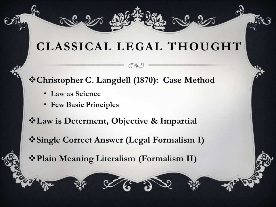 ATTACK BY PROTO-REALISTS  Holmes, Path of the Law (1897)  Hohfeld, Fundamental Legal Conceptions (1913)  Hale, Coercion (1923)  Pound, Mechanical Jurisprudence  Isaacs, Standardization of Contracts
