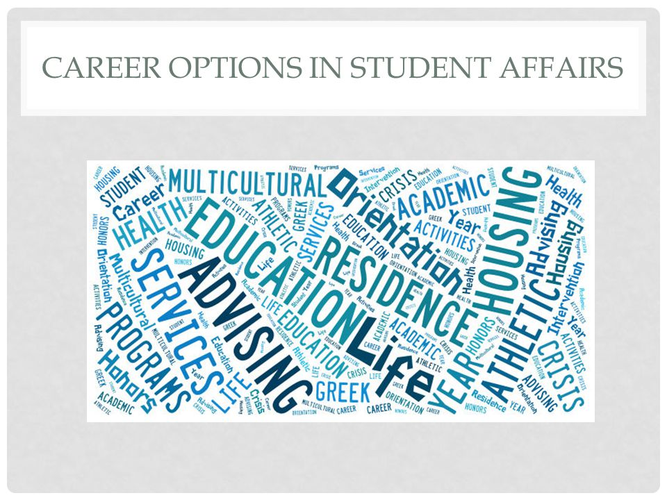 CAREER OPTIONS IN STUDENT AFFAIRS