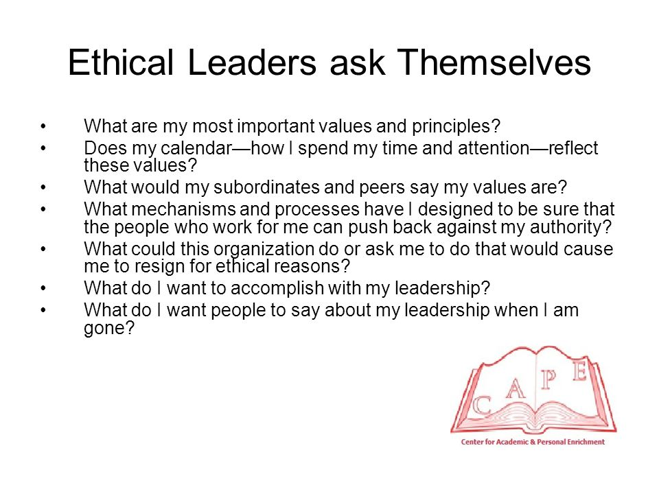Principles for Ethical Decision Making Step back from every decision before you make it and look at it objectively.