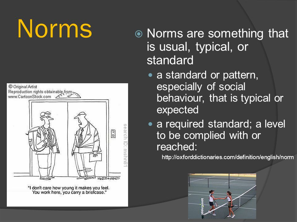 Norms  Norms serve as guides for action Moral norms are helpful in examining our conscience by giving us some criteria or standards.