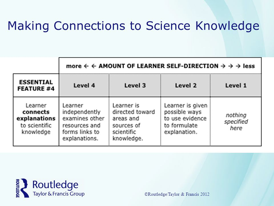 Making Connections to Science Knowledge ©Routledge/Taylor & Francis 2012