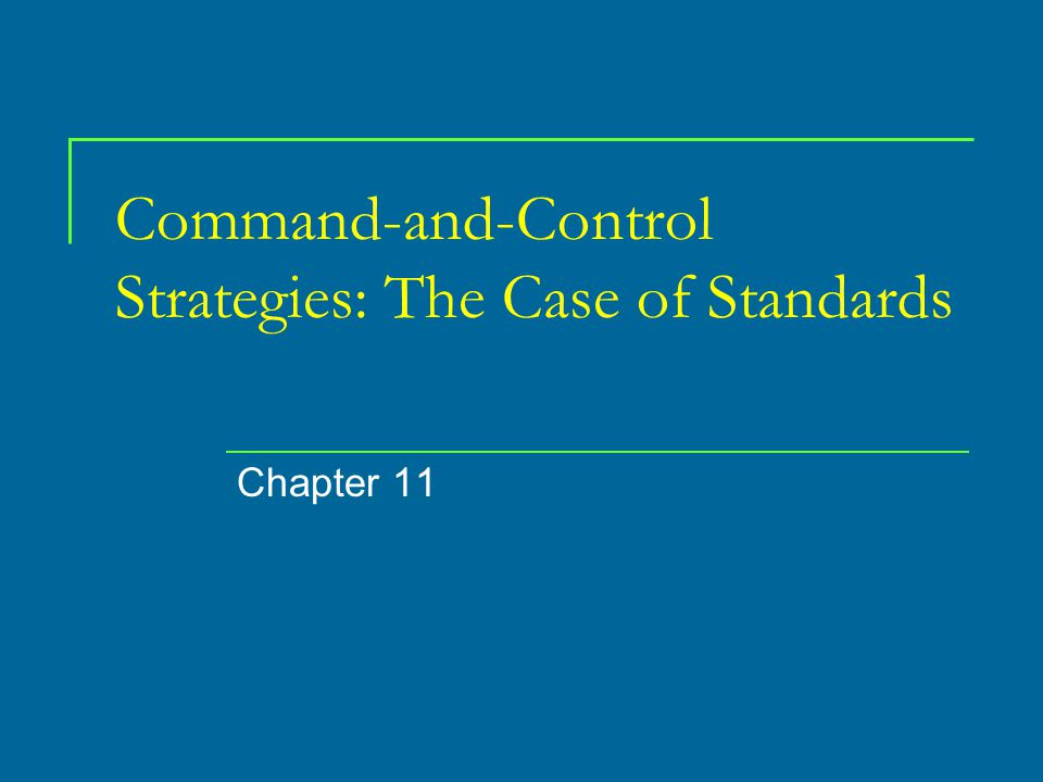 Political-Economic Aspects of Standards Standards are often set under political give- and-take.