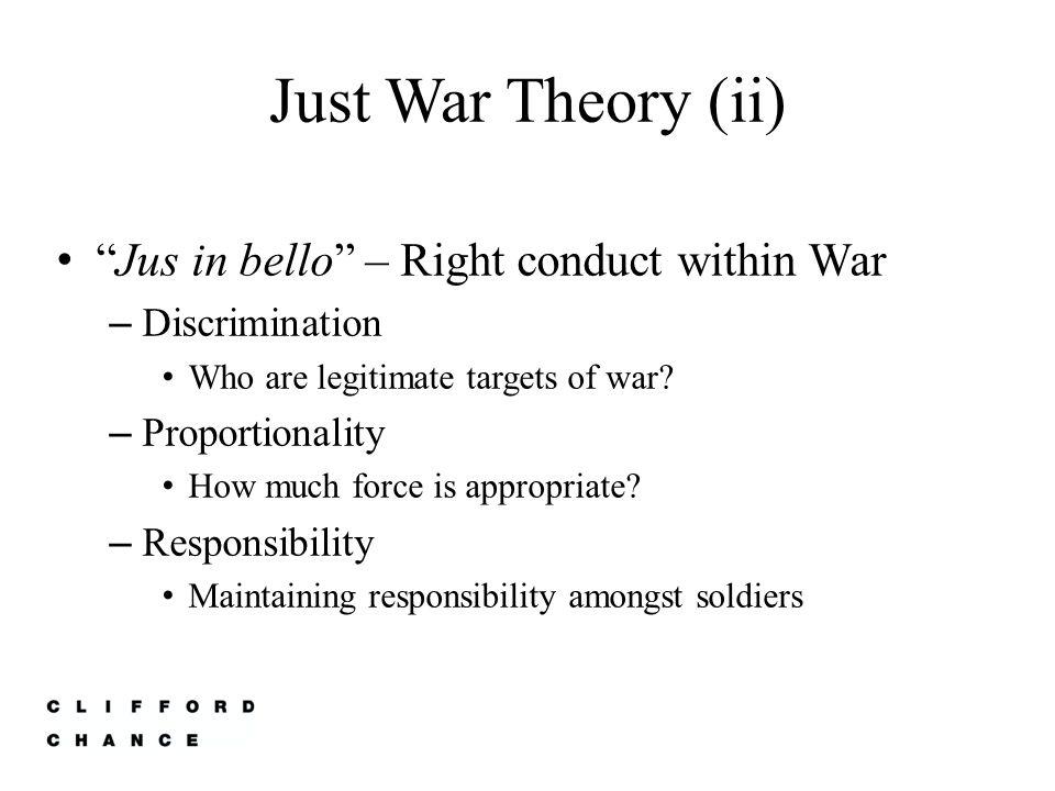 Just War Theory (iii) Jus post bellum – Compensation – Rehabilitation – Punishment