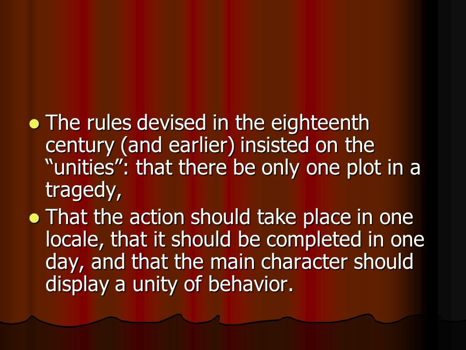 SUMMARY The subject matter of drama is the human condition as represented by action.