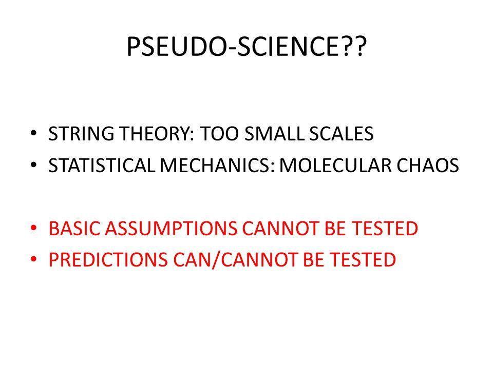PSEUDO-SCIENCE .
