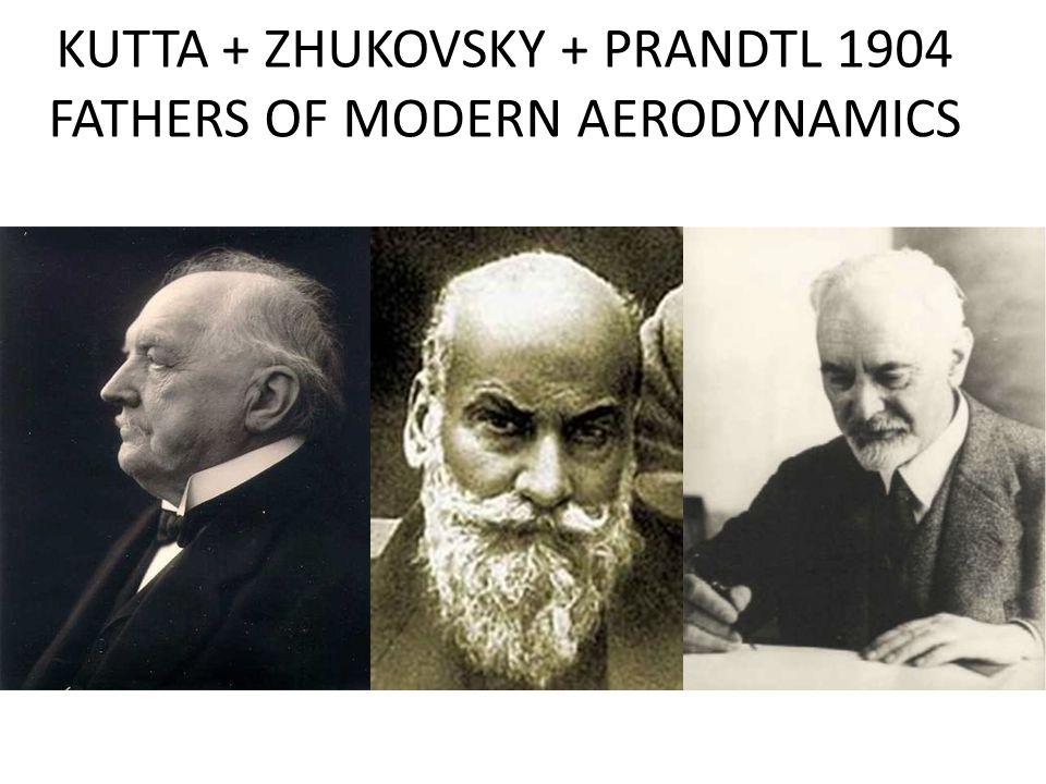 KUTTA + ZHUKOVSKY + PRANDTL 1904 FATHERS OF MODERN AERODYNAMICS