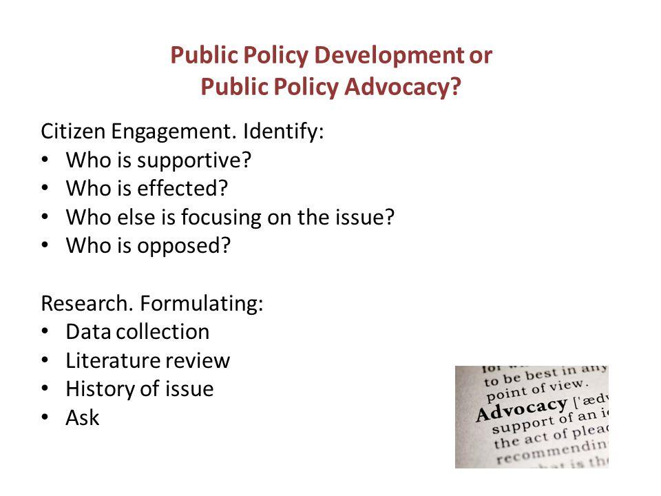 Public Policy Development or Public Policy Advocacy.