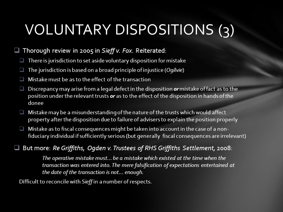  Observations  Where does the fiduciary duty to take relevant matters come from.