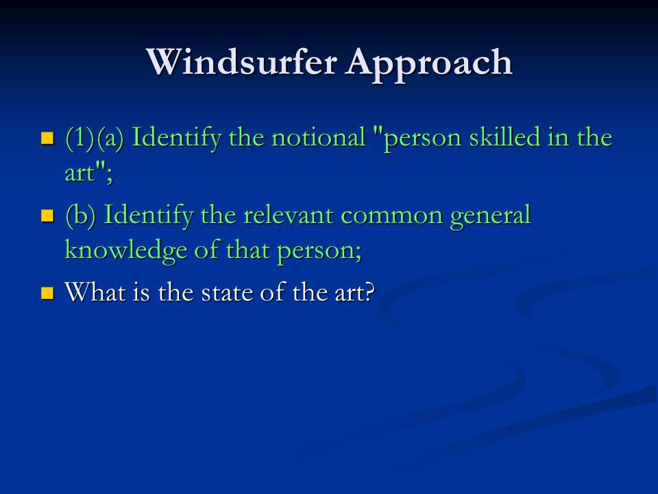 Windsurfer Approach (1)(a) Identify the notional