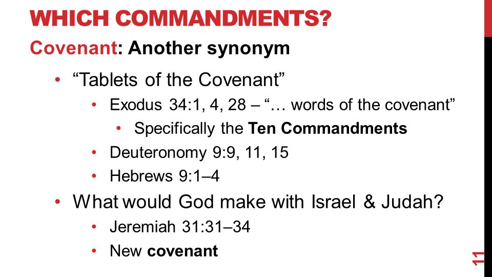 WHICH COMMANDMENTS.